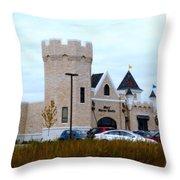A Cheese Castle Throw Pillow by Kay Novy