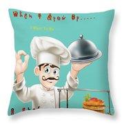 A Chef 1 Throw Pillow