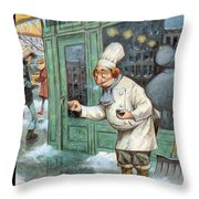Just A Pinch Throw Pillow by Peter de Seve
