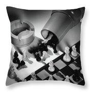 A Chess Set Throw Pillow