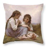 A Childhood Idyll Throw Pillow