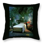 A Child's Bedroom Designed By William Riva Throw Pillow