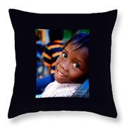 A Child's Smile Is One Of Life's Greatest Blessings Throw Pillow