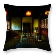 A Chinese Scholar's House Throw Pillow