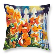 A Choir Of Poppies Throw Pillow by Kathy Braud
