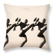 A Chorus Line Throw Pillow by Bill Cannon