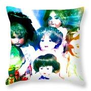A Chorus Of Dolls - Toy Dreams 4 Throw Pillow