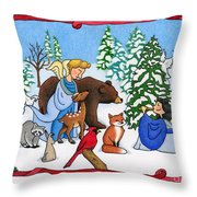 A Christmas Scene 2 Throw Pillow