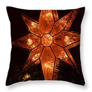A Christmas Star Throw Pillow