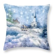 A Christmas To Remember Throw Pillow