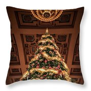 A Christmas Tree At Union Station Throw Pillow