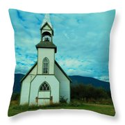 A Church In British Columbia   Throw Pillow