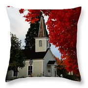 A Church In Historic Jacksonville Throw Pillow