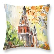 A Church In Our Street In Budapest Throw Pillow