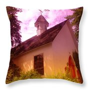 A Church In Prosser Wa Throw Pillow