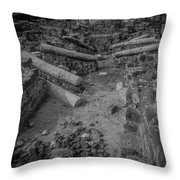 A City Falls Throw Pillow by David Morefield