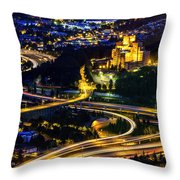 A City's Heartbeat Throw Pillow