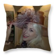 A Class Hat On A Classy Lady Throw Pillow