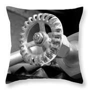 A Classic Black And White Throw Pillow