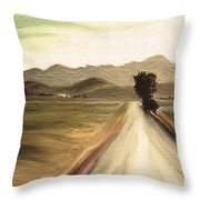 A Classic Landscape Throw Pillow