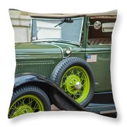 A Classic Ride Throw Pillow