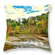A Cleveland Autumn Throw Pillow