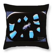 A Clockwork Blue Throw Pillow