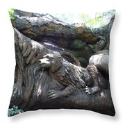 A Closer Look At Tree Of Life Throw Pillow