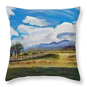 A Cloudy Day On Antelope Island Throw Pillow