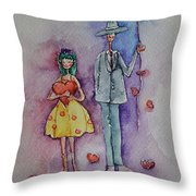 A Clumsy Love Throw Pillow