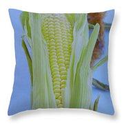 A Cob Of Corn Throw Pillow