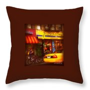 A Coffee On The Way Home Throw Pillow