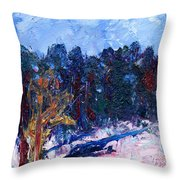 A Cold Day In March Throw Pillow