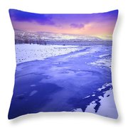 A Cold New Years Eve Throw Pillow