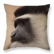 A Colobus Monkey Throw Pillow