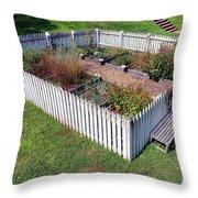 A Colonial Garden Throw Pillow