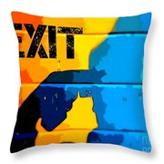 A Colorful Exit  Throw Pillow
