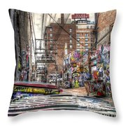 A Colorful Place To Sleep Throw Pillow