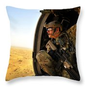 A Combat Rescue Officer Conducts Throw Pillow