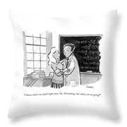 A Concerned Woman Embraces Dr. Heisenberg Throw Pillow