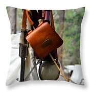 A Confederate Soldiers Life Throw Pillow