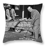 A Construction Golfer Throw Pillow
