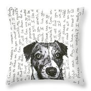 A Conversation With A Jack Russell Terrier Throw Pillow