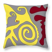A Conversation With One's Self Or Not.  Throw Pillow