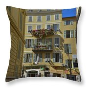 A Corner In Nice Throw Pillow