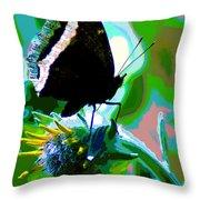 A Cosmic Butterfly Throw Pillow