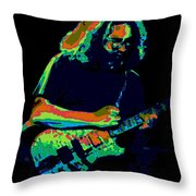 A Cosmic Cat Under The Stars Throw Pillow