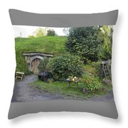 A Cosy Hobbit Home In The Shire Throw Pillow