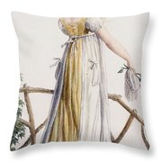 A Country Style Ladies Dress Throw Pillow