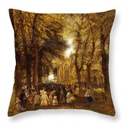 A Country Wedding Throw Pillow by Charles Thomas Burt